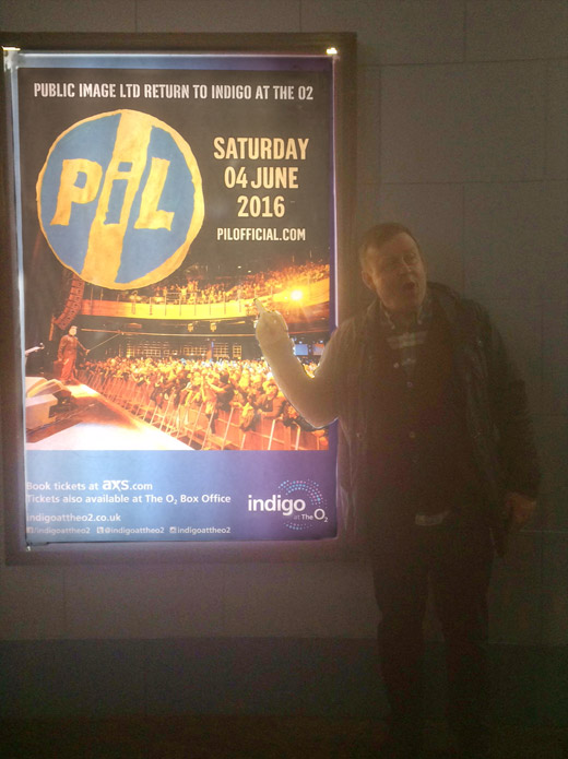 The loyal South London contingent promoting PiL at the Brit Awards just before Coldplay came on. The crowd went mild. They knew PiL were coming.