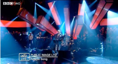 Public Image Ltd. perform Reggie Song on Later... with Jools Holland, BBC Two (25th Sep 2012).