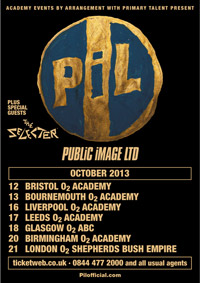 PiL: UK Tour October 2013