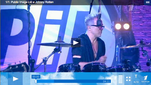 PiL performing Rise on Russian TV yesterday: Moscow, Evening Urgant June 17th.