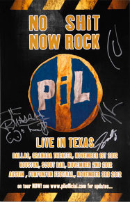 PiL: Live in Texas 2012 limited edition signed poster