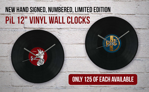 Signed, Numbered PiL Vinyl Wall Clock